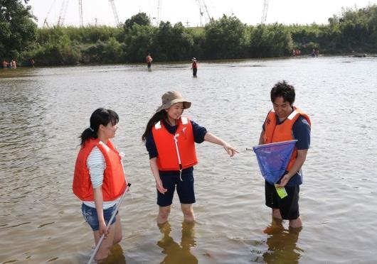 大和川わんど(湾処)で里山学演習を実施 八尾市と近大が取り組む、大和川の自然再生と環境教育