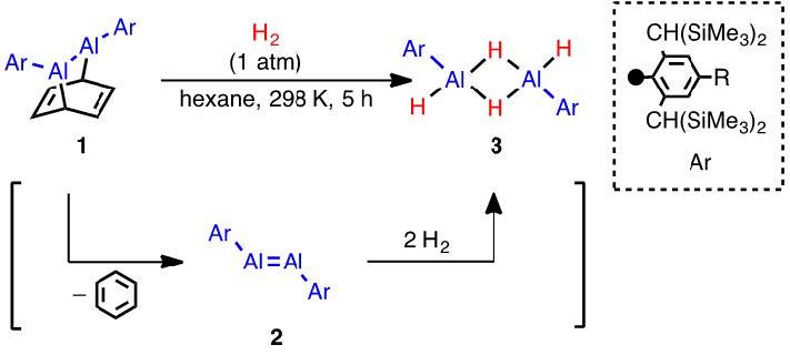 アルミニウム化合物による常温・常圧での水素分子活性化反応を発見 安価で豊富な元素を用いた水素化反応触媒や水素貯蔵材料の開発に期待