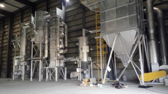 バイオコークス溶解能力実証施設が本格稼働開始 11/1(火)、新しく導入された大型溶解炉の「火入れ式」を開催