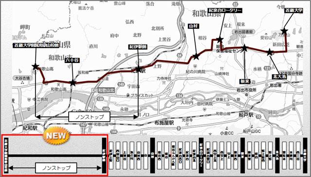 路線バス延伸で紀の川・岩出方面からの通学が便利に!<br /> (近畿大学附属和歌山高等学校・中学校)