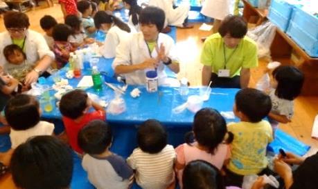近大生が川俣シャモ祭りに協力 8月26日~27日 福島県川俣町にて