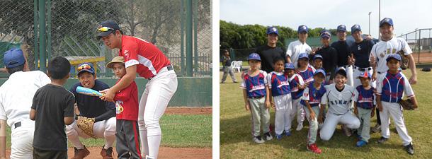 近畿大学産業理工学部 学生ボランティア ペルーにて野球の指導開始
