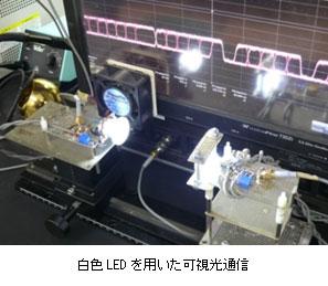 近畿大学 青色LEDを使った可視光通信で世界最高速度を実現!