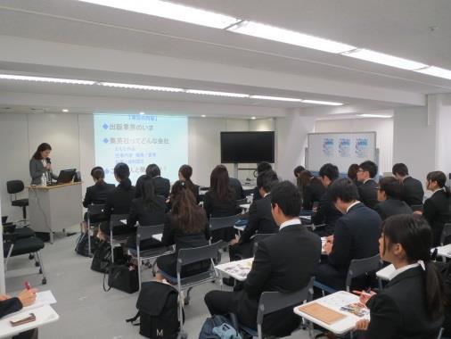 「マスコミ業界フェア」を東京センターで開催 マスコミ業界に就職希望の本学学生に大手4社が講演