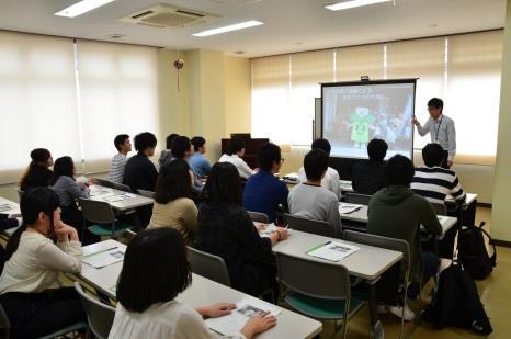 法学部生が生駒市役所を訪問 公務員志望の学生が、市役所での業務を学ぶ研修
