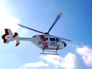 ドクターヘリ離着陸場がキャンパス内に誕生 運用開始に先立ち、那賀消防組合と県立医大との合同訓練を実施