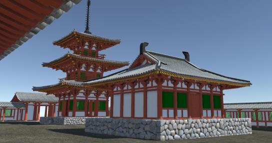 「河内寺廃寺が近大アクトに蘇る!」 VR(ヴァーチャルリアリティ)で古の姿を再現