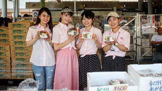 共同開発に携わった学生がアカモクメニューを和歌山県でPR めっけもん広場で「紀州アカモク」PRイベントを開催