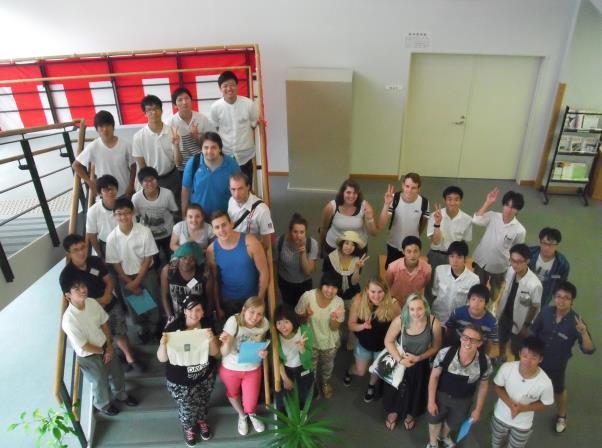 オランダ国立南大学学生と近大高専学生との交流 7月25日(月)名張市春日丘・近大高専にて