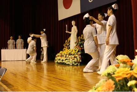 附属福岡高等学校第4回総合オープンキャンパス 看護科「戴帽式」を一般公開