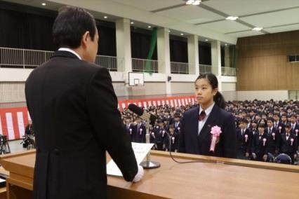 平成28年度卒業証書授与式を挙行 1月18日(水)和歌山県内の高校で一番早い卒業式