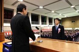 1/21(水)近畿大学附属和歌山高等学校 平成26年度 卒業証書授与式を挙行