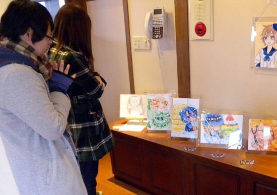 学生の作品を展示「美術・書道部展示会」 近畿大学九州短期大学~さかえ屋本店 風の音ギャラリーにて~