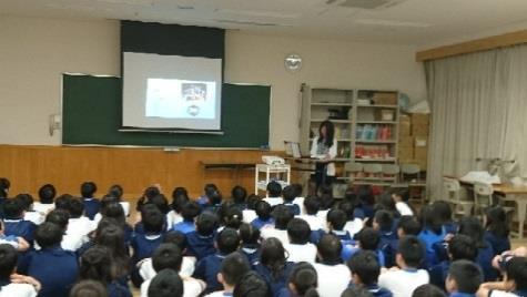 卒業生が6年生児童にメッセージ 児童が将来のビジョンを思い描く機会に