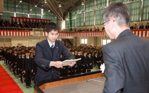 平成29年度 卒業証書授与式を挙行 但馬地域の高校で一番早い卒業式