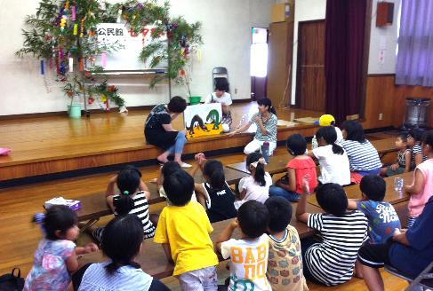 学生ボランティアが地域の七夕会に初参加 幼児教育研究会によるレクリエーションなど運営協力