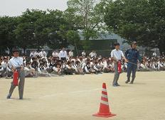 火災発生に伴う避難・防災訓練を実施 全校生徒を対象に災害時の事故防止を目指す