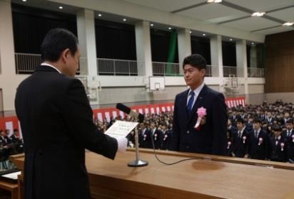 平成30年度 卒業証書授与式を挙行 和歌山県内の高校で一番早い卒業式