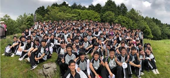 令和元年初 龍王山の山開き安全祈念式 近畿大学附属福岡高校代表生徒が利用者の安全を願い入山宣言