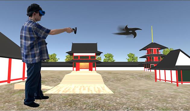 第1回オープンキャンパス開催 ~VR体験イベント「夏見廃寺で手裏剣を投げてみよう!」を実施~