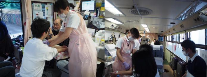 日本赤十字社と生徒会による「献血活動」を実施 コロナ禍における献血の現状を理解し、その必要性を学ぶ