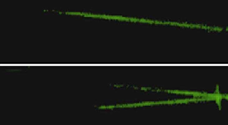 世界ではじめてイメージセンサーで光の飛翔の撮影に成功